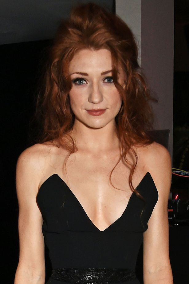 Nicola Roberts at her 30th birthday party at Hotel Chantelle London wearing a low cut black dress