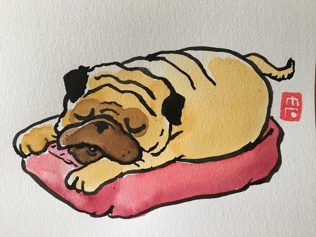 Pin By Andrea On Pugs Pugs Pugs Pug Cartoon Pugs