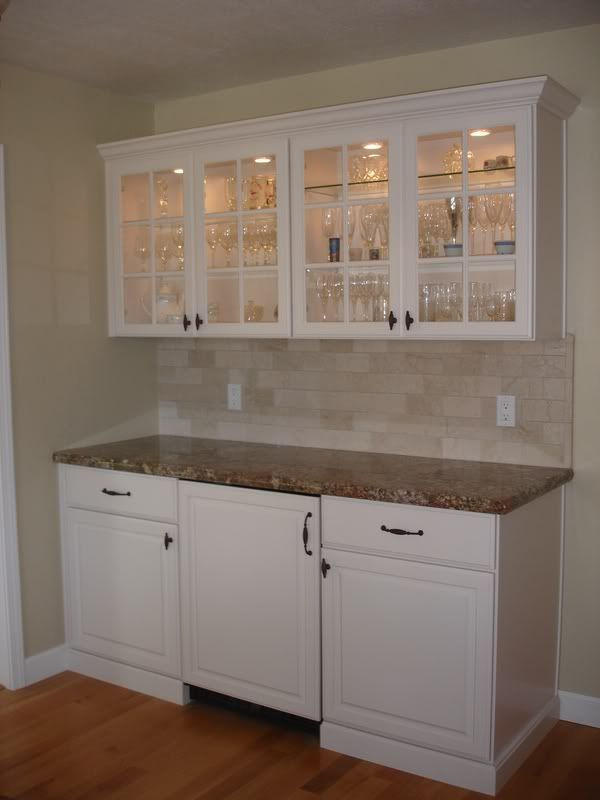 built in buffet with mini fridge In dining room  Echo