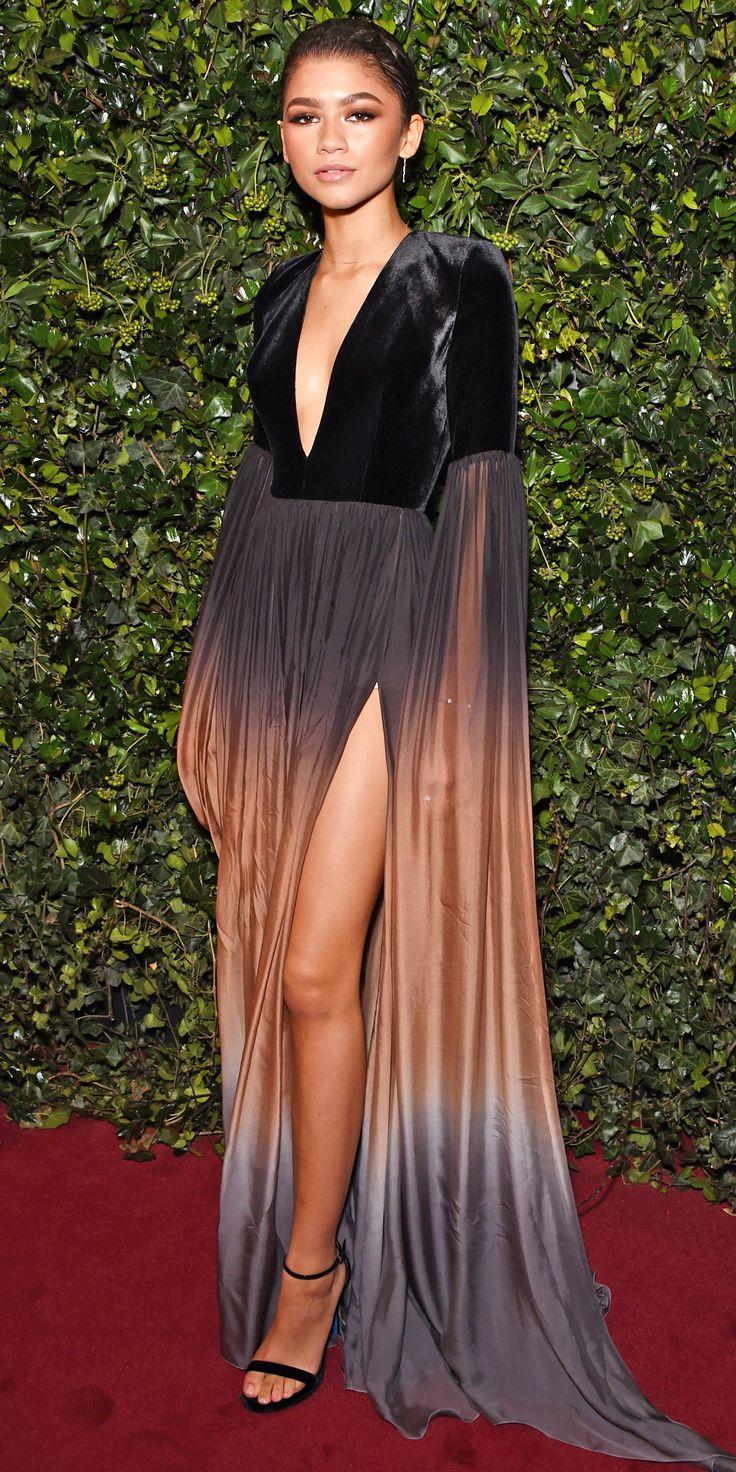 Zendaya in Elie Saab - check out those floor length sleeves!