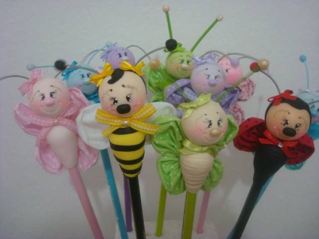 pencil toppers during our butterfly unit