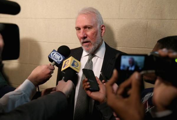 Mario Chalmers hit a buzzer-beater last night against the Spurs, Gregg Popovich's reaction was fantastic.