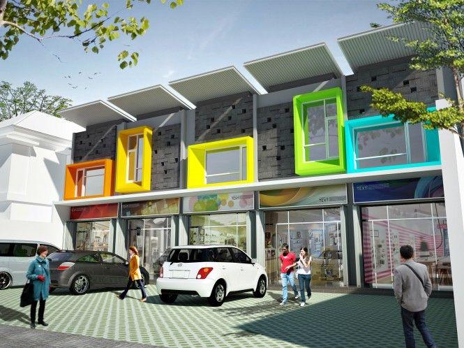 60 Desain Ruko 2 Lantai Minimalis dan Modern - Saat ini perkembangan dunia usaha berkembang pesat. Banyak orang yang memutuskan menjadi pe...