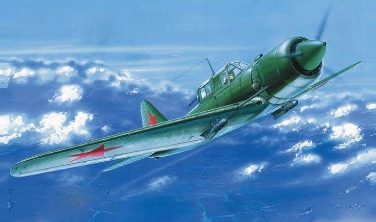 Sukhoi Su-6 M-71. Viene siendo un IL-2 o IL-10 con motor Radial.
