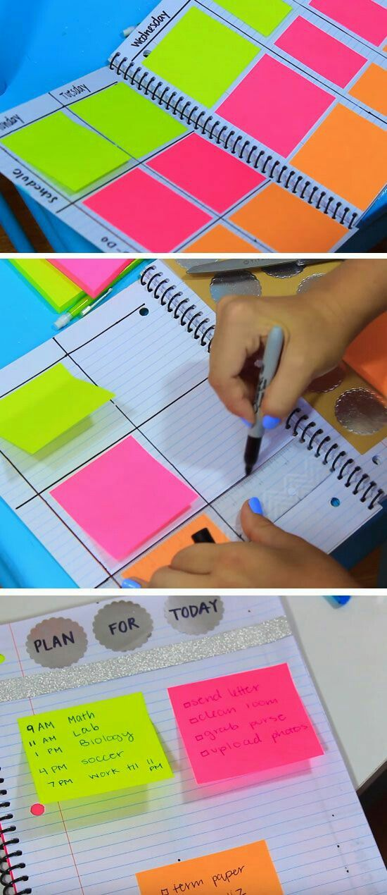 DIY PRETTY DIARY WITH POST-IT