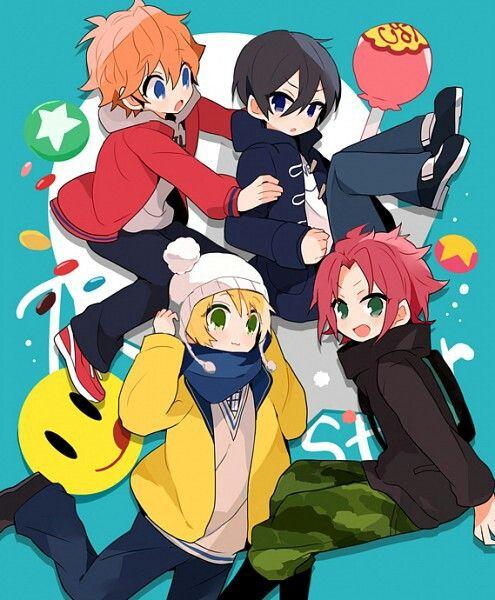 Ensemble stars. Akehoshi Subaru, Hidaka Hokuto, Makoto Yuuki, Isara Mao