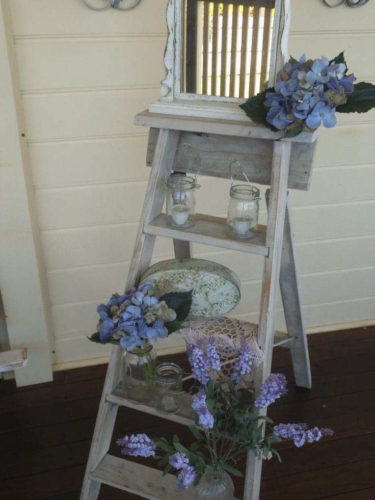 I just love ladders of any style shape or condition. They just have so many uses. SOLD