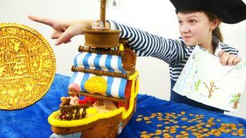 Пираты ищут сокровища. Делаем золотые монеты из шоколада! Лучшая подружка Варя. http://video-kid.com/9955-piraty-ischut-sokrovischa-delaem-zolotye-monety-iz-shokolada-luchshaja-podruzhka-varja.html  Игры для детей. Все пираты мечтают найти сокровища! Но иногда даже карта сокровищ не помогает. Тогда на помощь приходит лучшая подружка Варя! Она Покажет как можно сделать золотые монеты из шоколада. Ни один пират не останется без золотого слитка! Семь фунтов под килем! До встречи!Видео с лучшей…