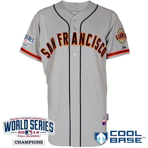 c5c2cd82b ... 2014 World Series Champions Cool Base Patch Player Jersey - San  Francisco Giants Authentic Road Jersey w2014 World Series Champions Patch  ...