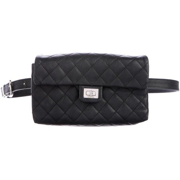 a42e16f0572545 Pre-owned Chanel Quilted Caviar Waist Bag ($2,500) ❤ liked on Polyvore  featuring bags, black, bum bag, belt bag, strap bag, chanel bags and waist  fanny ...
