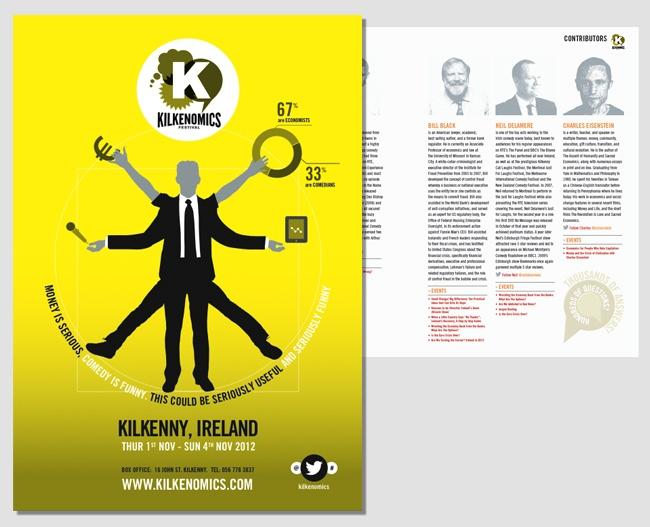 Kilkenomics Festival brochure design
