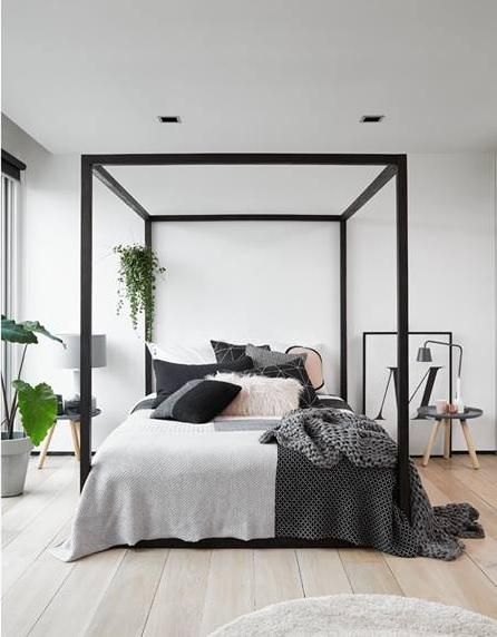 Cubic Four Poster Bed Black Oak Four Poster Bed Decorating Ideas