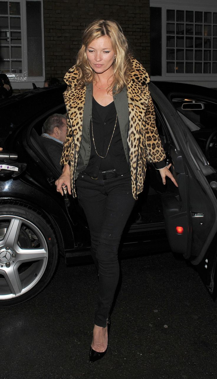 Take your que from Kate Moss and style a Leopard print jacket over a classic black ensemble
