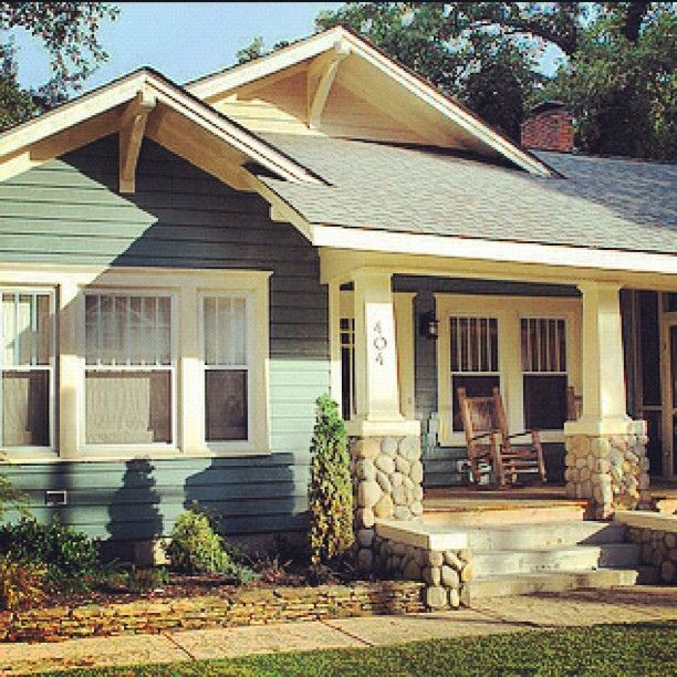 Haberae Small Houses In Reno: Dream Home. Colorful Bungalow, Rock Front Porch (by My Dad