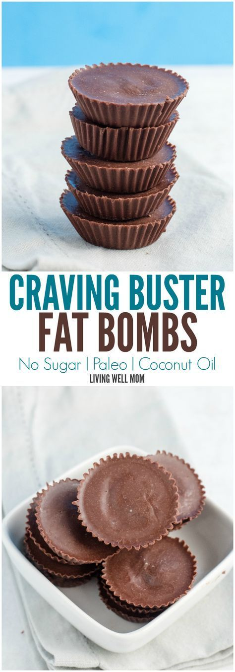 Sugar-Free Craving Buster Chocolate Fat Bombs take just 2 minutes to make and the benefits are incredible! What other chocolate recipe has the potential to help you lose weight, boost your metabolism, stop sugar and carb cravings, and even improve your mood?! Paleo and dairy-free too