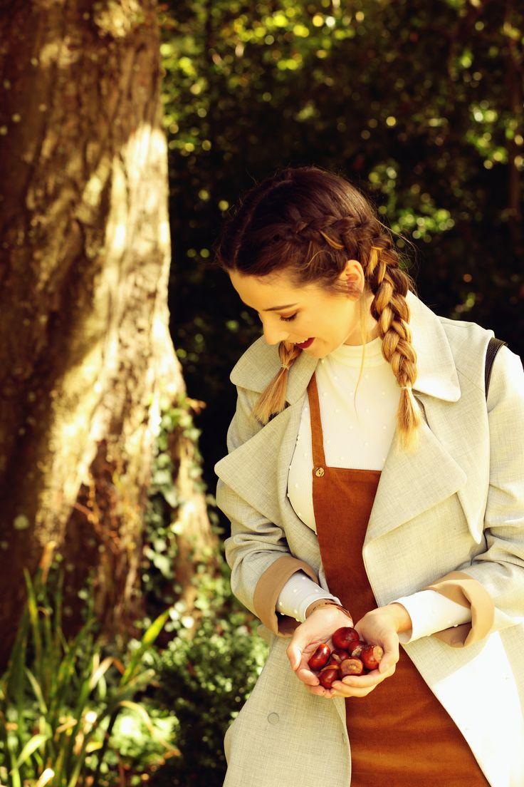 Zoella   Autumn Style   Pinafore & Plaits