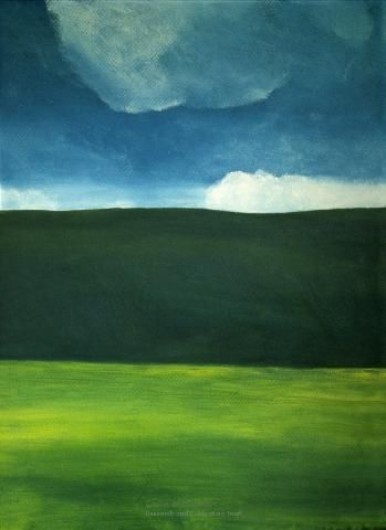 'buttercup fields forever'. Painted by Colin McCahon, - who was born here in Timaru. :)