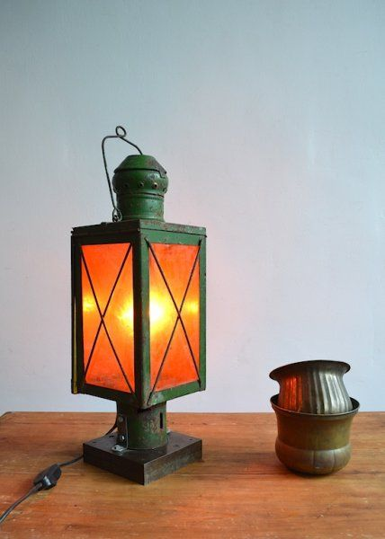 Old railway lamp (2 pc) | artKRAFT - Furniture&Design