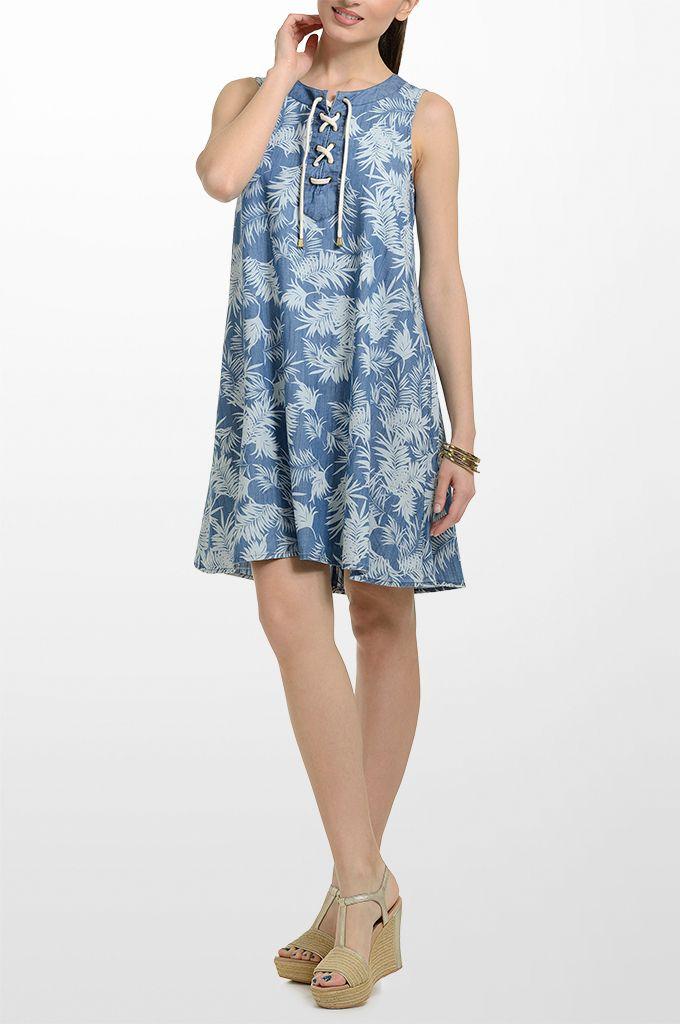 Sarah Lawrence - A line printed dress.