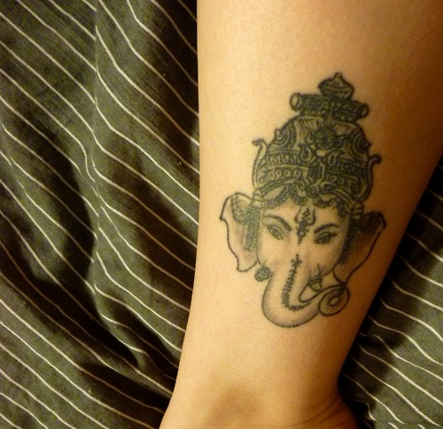 Ganesha god of strength and fortitude the remover of for Is god against tattoos