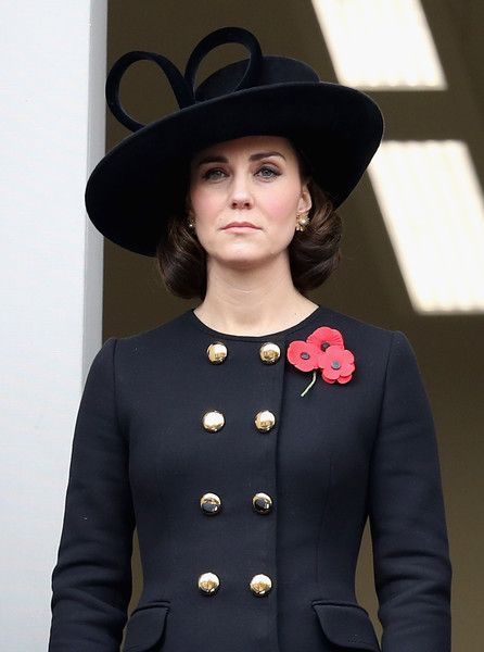 Kate Middleton Photos - Catherine, Duchess of Cambridge during the annual Remembrance Sunday memorial on November 12, 2017 in London, England.