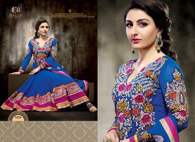Soha Ali Khan - Blue Anarkali Dress Collection