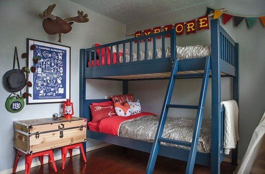 Before & After: A Cute Camping-Themed Kids Bedroom — Professional Project   Apartment Therapy