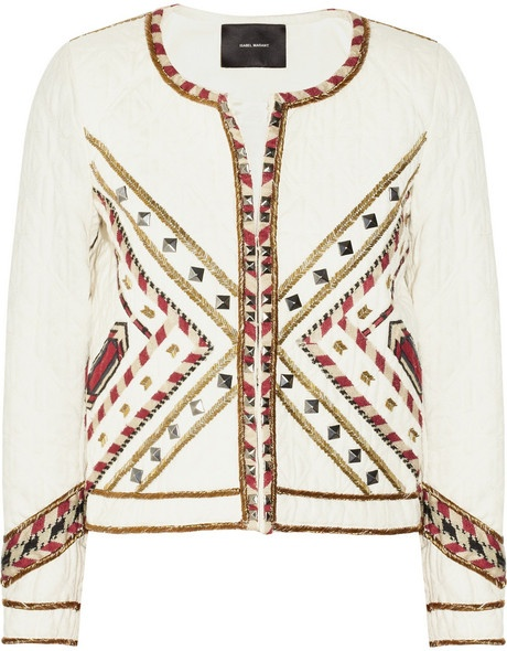 Hippo Embellished Quilted Cottontwill Jacket - Lyst