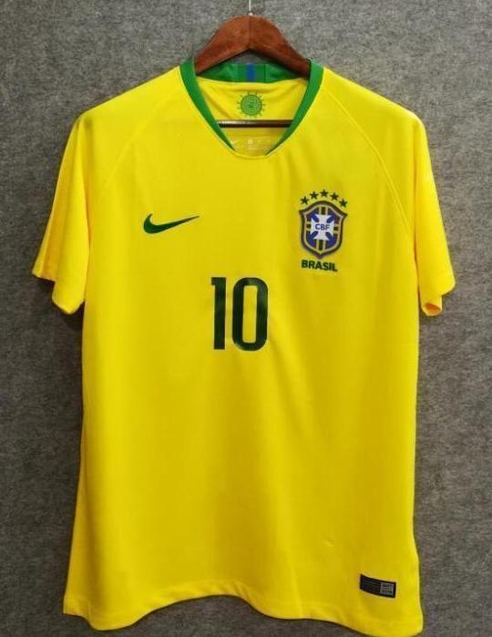 8bd7c0b83be 2018 Men Brazil Jersey Home Neymar Jersey Soccer World Cup Jersey Fanatics