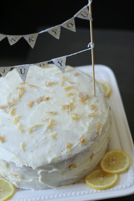 : Lemon Layer Cake with Lemon Cream Cheese Frosting and Candied Lemon ...