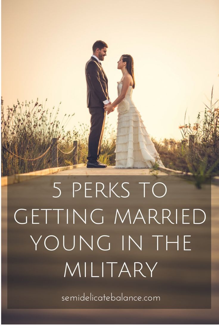 5 Perks to Getting Married Young in The Military