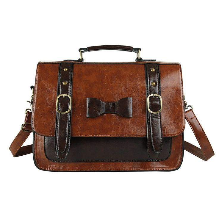 Ecosusi Women Vintage PU Leather Messenger Bag Satchel Handbag: Amazon.ca: Luggage & Bags