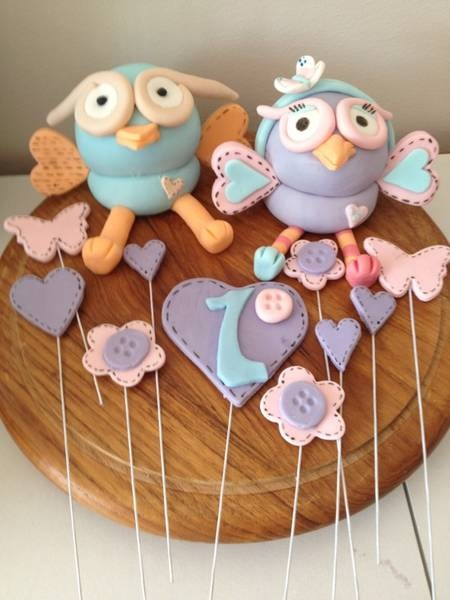 Giggle and hoot, hoot or hootabelle cake toppers