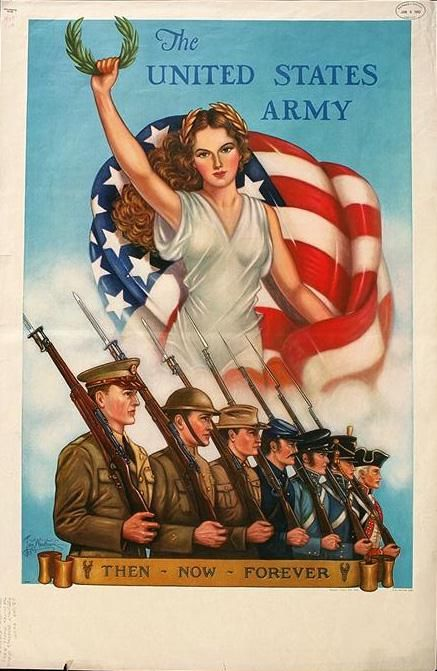 Artist: Woodburn, Thomas.  Title: The United States Army : then--now--forever /  Date: 1940