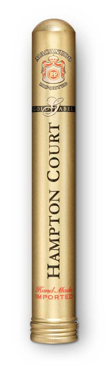 Shop Now Macanudo Gold Label Hampton Court Aluminum Tube Cigars - Natural Box of 25 | Cuenca Cigars  Sales Price:  $164.99
