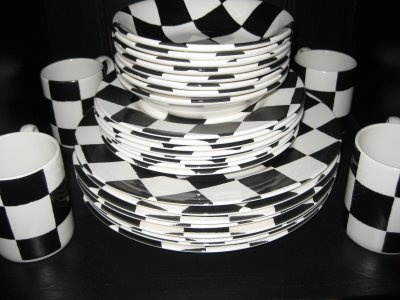 Amusing Black And White Checkered Dishes Contemporary - Best Image ... Amusing Black And White Checkered Dishes Contemporary Best Image : checkerboard dinnerware - Pezcame.Com
