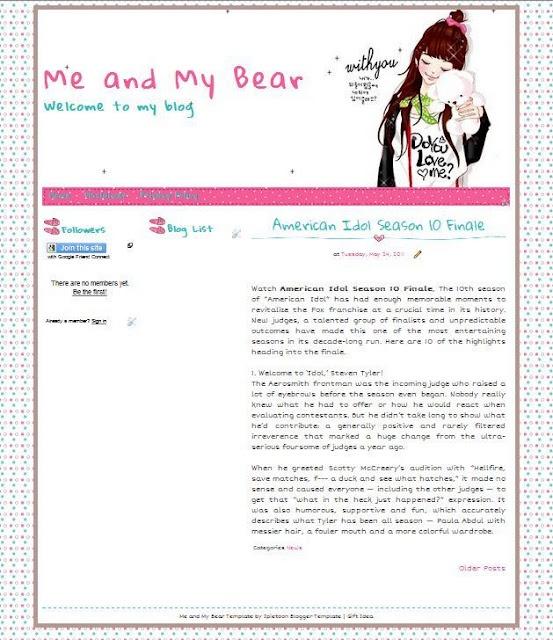 another cute blogger template linda plantilla de blogger for you