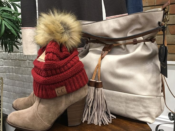 Our soft spot is comfy and soft. What can we say. #ShopALB #ApricotLaneTS $20 beanie. $40 bootie and $85 bag