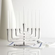 Box of 45 Menorah Candles, Frosted White