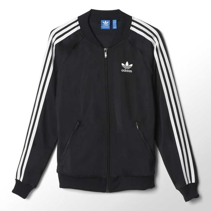 This women's Superstar Track Top is a one-to-one reissue of one of adidas' most iconic styles. The track jacket comes in shiny tricot with all the authentic details, including a ribbed collar, 3-Stripes on the sleeves and a rubber-print Trefoil in back.