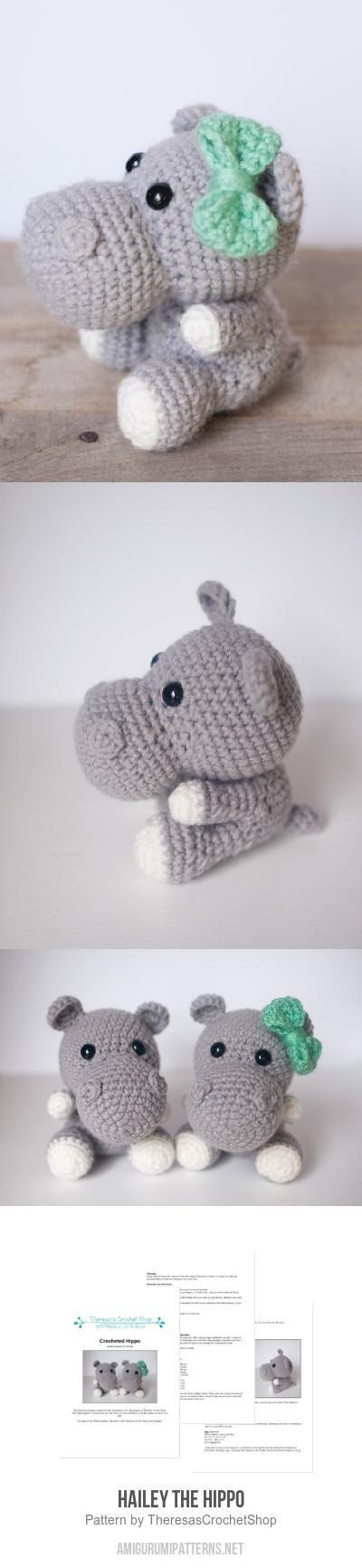 Hailey the Hippo amigurumi pattern