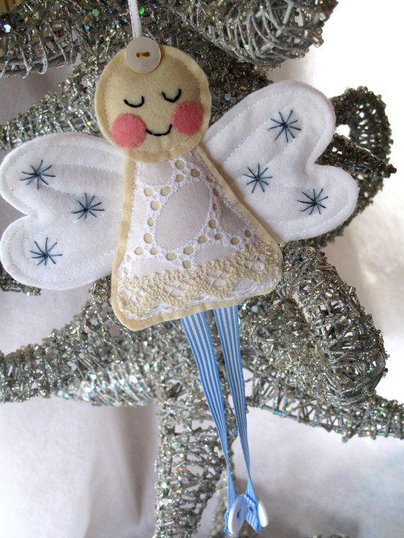 felt and lace angel