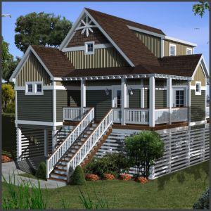 1683-1 Secret Spot beach house plan