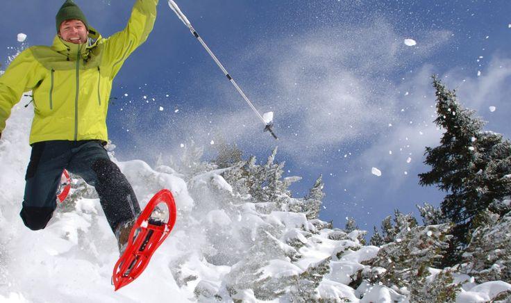 Action mit den Schneeschuhen