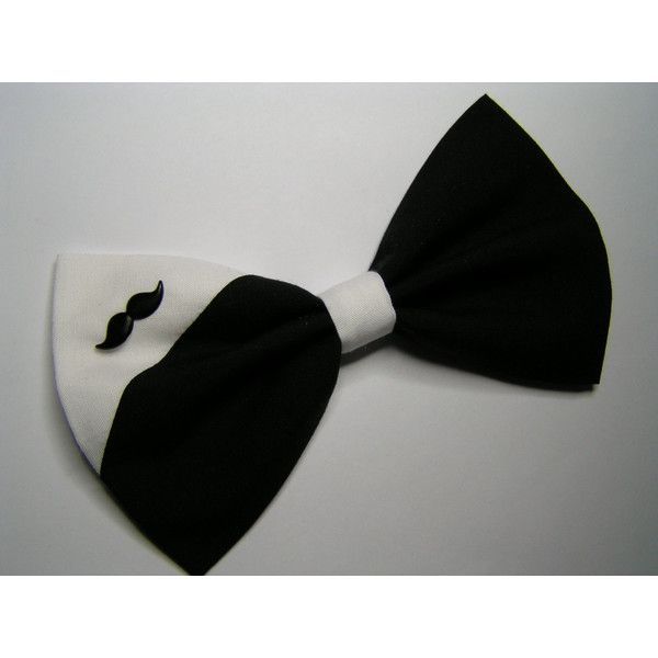 Mustache Hair Bow, hair bow, Large Hair Bow for teens and women, Kids hair bows, Hair bows featuring polyvore and accessories
