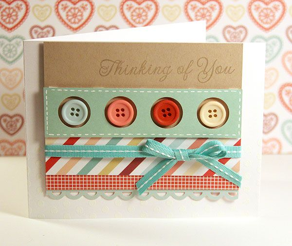 Button card (KWerner)Kristina Werner, Cards Ideas, Handmade Cards, Greeting Cards, Scrapbook Pages, Cards Diy, Homemade Cards, Paper Crafts, Buttons Cards