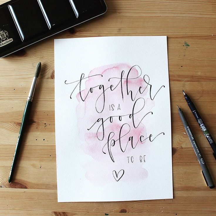 HAndlettering Spruch