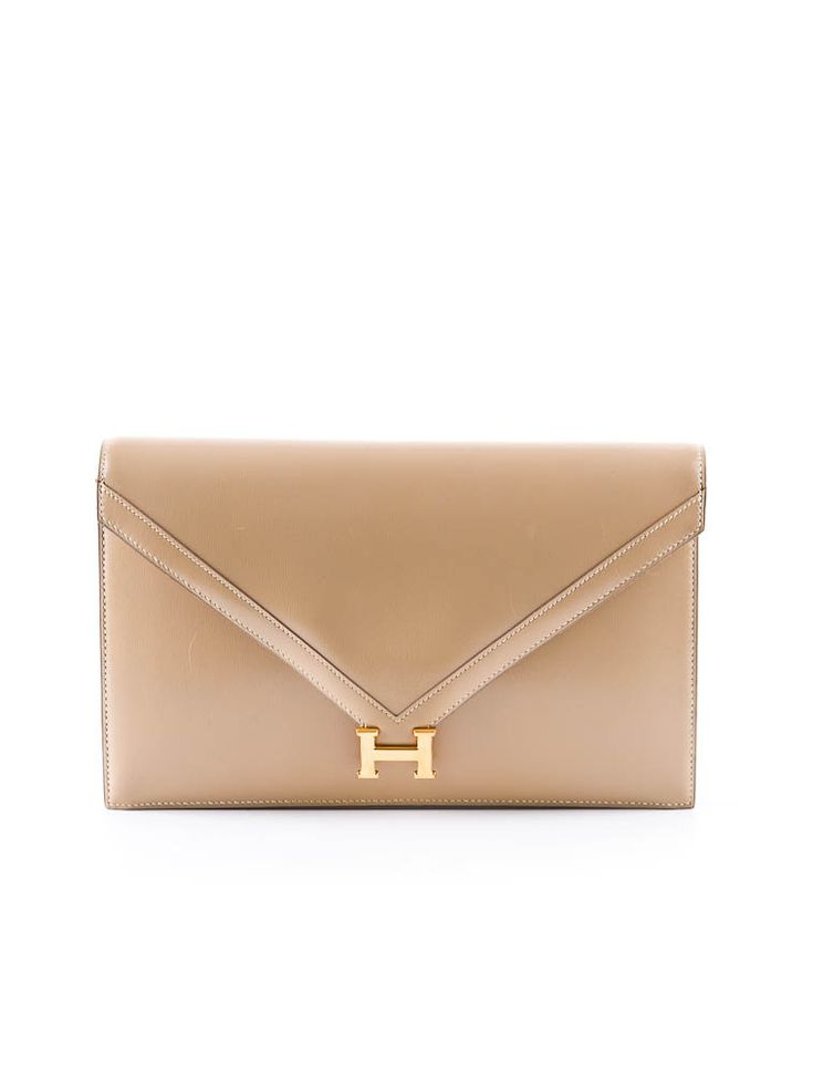 Hermès H Leather Clutch - This will never go out of style... NEVER.
