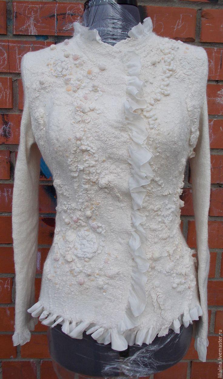 Купить Жакет свадебный - белый, свадебное платье, свадебная накидка, свадебная шубка, свадебное болеро