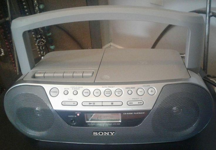 Sony CD RADIO CASSETTE-CORDER Hifi System Boom Box Model CFD-S05 | eBay